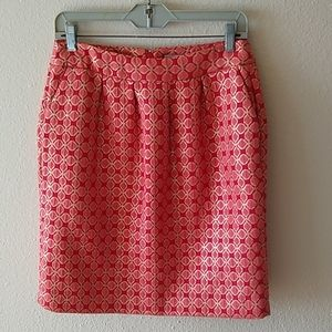 Coral Halogen skirt with pockets